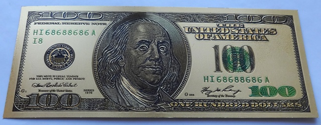 100 Dollars - USD (USA) / 1976 F (pozlaceno) / * 0/0